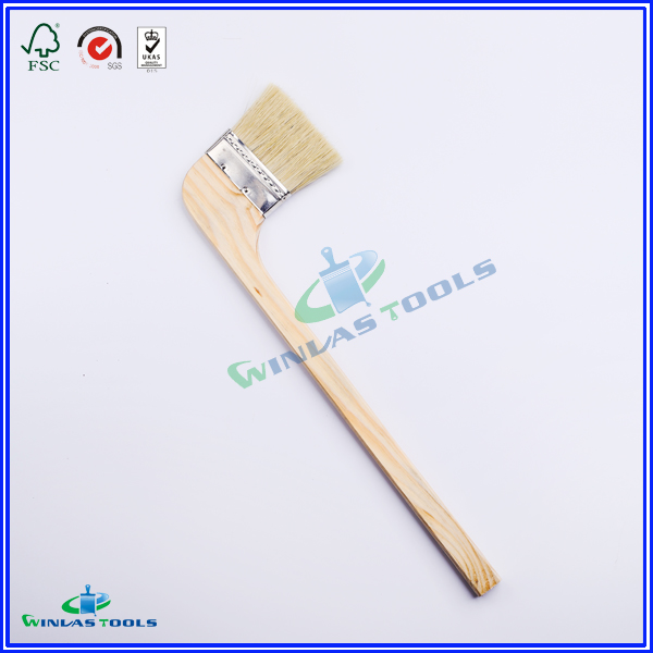 wooden handle angle paint brush