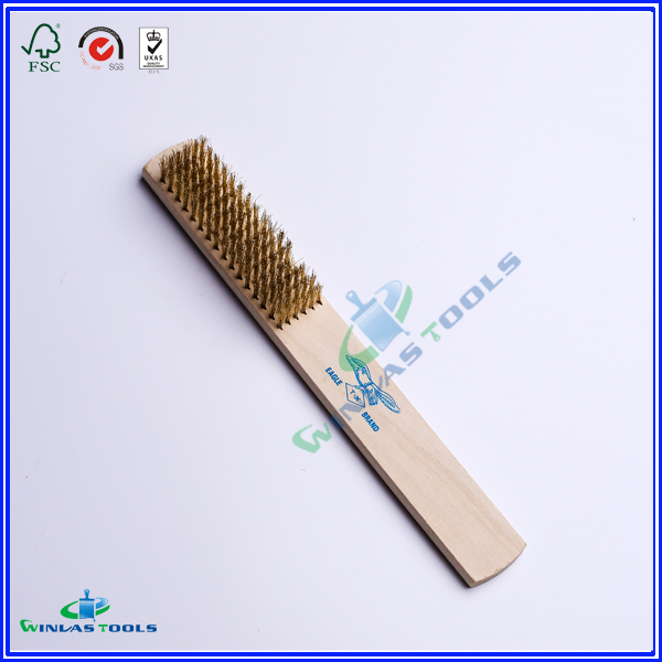Wooden handle brass Brush